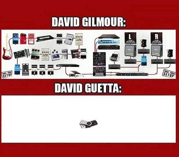 Gilmour vs Guetta